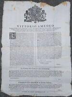 1717 144) TORINO BANDO COSTRUZIONE OSPEDALI PER POVERI E VAGABONDI DOPO LA GUERR