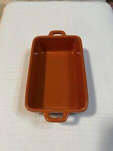 Bobby Flay Stoneware Casserole Orange & Black