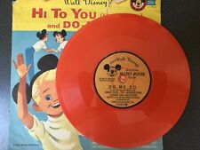 Mickey Mouse Club Record Hi To You & Do-Me-So  Disney  Orange Vinyl VG