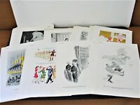 Set of (42) Comic Pages from 1937, 1939 and 1941 ESQUIRE MAGAZINE PUBLICATIONS