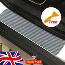 4pc Carbon Fibre sliver universal Car Door Sill Scuff Protector pedal Sticker UK