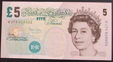 B398 BAILEY 2004 £5 BANKNOTE * KJ74 628502 * EF *