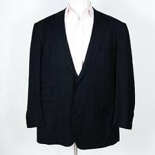 Gianluca Isaia Sciammeria Super 150s Black Jacket w/ Working Cuffs 50 L