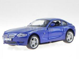 BMW e86 M Z4 M Coupe 2010 blue diecast model car 43007 Bburago 1/32