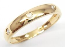 BEAUTIFUL 10K SOLID YELLOW GOLD 3 DIAMONDS RING SIZE 7    R1143