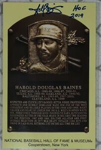 "Harold Baines Signed Hall of Fame Plaque Canceled Post Card ""HOF 2019"" Autograph"