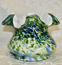 Fenton, Vasa Murrhina Vase, Green Aventurine.
