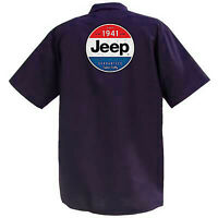 Jeep Guaranteed - Mechanics Graphic Work Shirt  Short Sleeve