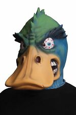 Morbid Angry Duck Latex Mask Adult Blue & Green Bird Halloween Costume Accessory