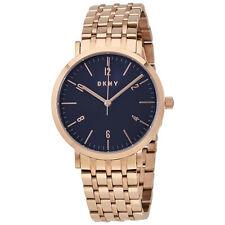 DKNY Minetta Blue Dial Ladies Rose Gold Tone Watch NY2611
