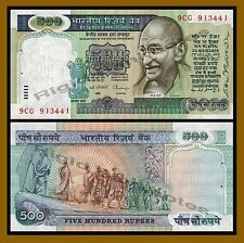 India 500 Rupees, 1987 P-87 Gandhi UNC (With Usual Pinhole)
