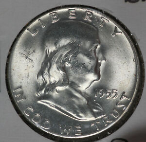 "Beautiful Uncirculated 1955 ""Bugs Bunny"" Franklin Half Dollar!!"