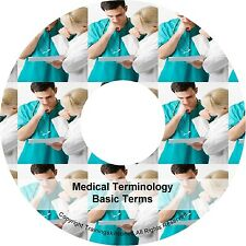 Learn Medical Terminology Basic Terms Training Book PDF Manuals on CD
