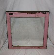"Vintage Antique Wood Frame + Glass Primitive Window24"" x 24"""