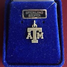 Jewelry Sterling Silver Texas A&M University A&M ATM Charm Aggie TAMU Charm