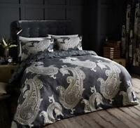 Paisley Crescent Black Luxury Duvet Covers Quilt Covers Reversible Bedding Sets