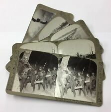5x WW1 Stereo Cards Amiens, St Quentin, Villers-Bretonneux #1