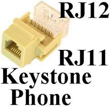 Keystone RJ11/RJ12 tooless Jack Phone/Telephone for 6wire/4wire 6P6C/6P4C{IVORY