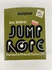 Vintage Winfield Jump Rope Professional Ball Bearing Wood Handles And Packaging