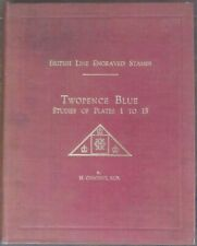 BRITISH LINE ENGRAVED STAMPS - TWOPENCE BLUE BY H. OSBORNE 1946 HARDBACK USED