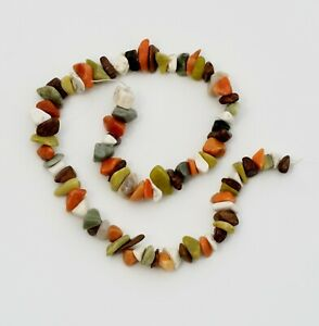 Multicolored Large Stone Chip Beads - 1 Strand