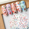 Christmas 3D Nail Art Transfer Stickers Flower Decals Manicure Decor Nails Tips