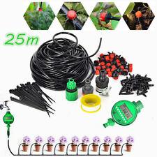 25M Auto DIY Watering Self Irrigation System Sprinkler Mirco Drip Timer Garden