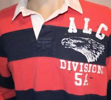 American Living Blue and Red Striped Large Polo/Rugby Shirt ALC Division 5A