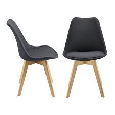 B-WARE 2x Esszimmerstuhl Bürostuhl Küchenstuhl Stuhl Stuhlset Stühle Dunkelgrau