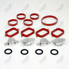 22mm ALUMINIUM SWIRL FLAP REPLACEMENT SET + O-RING FOR BMW 3 SERIES ~NEW~
