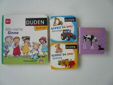 Kinderbücher 4 Pappbücher Minibücher Kennst du das, Alle meine Sinne, Gegenteile