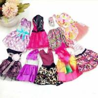 "10Pcs Fashion Handmade Party Dresses Clothes For 11"" Doll Style Random Gifts AK"