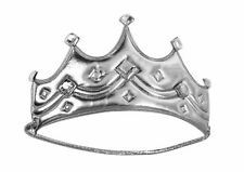 Child Royal Crown King Queen Silver Medieval Wisemen Costume Accessory Prince