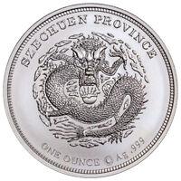 William Barber Barber's Dragon Pattern 1 oz Silver Medal GEM BU SKU54297