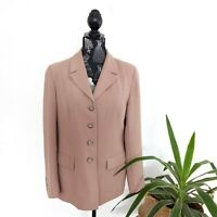 Vintage Sportsgirl Women's Size 14 Tan Work Corporate Blazer Jacket