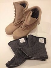 NEW WITHOUT TAGS WELLCO COLD WEATHER DESERT TAN COMBAT BOOT SIZE 5 1/2R MILITARY