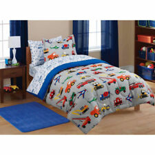 Mainstays Kids' Boys Transportation 5 Piece Coordinated Bed in a Bag. TWIN - NEW