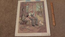 C. Carson Black Grandpa Boy Painting Artistic Impression Lithograph Print Canvas