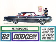 1962 Dodge Custom 880 Original Car Dealer Sales Brochure - Convertible