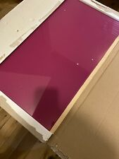BNWT PINK glass splashback NEW IN BOX 600mm X 750mm New Collection Only Herts