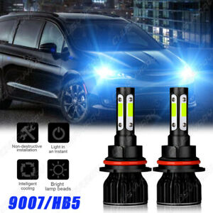 For Dodge Caravan Grand Caravan 2001-2007 9007 LED Headlight High/Low Beam Bulbs