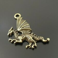 50pcs Antique Style Bronze Tone Alloy Fly Dragon Wing Pendant Charms 20mm