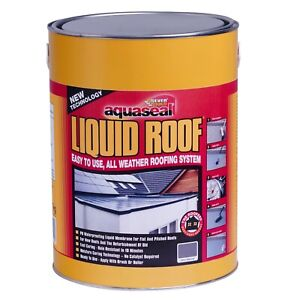 Aquaseal Grey Liquid Roof Waterproof Membrane Rubber Sealant 7kg 21kg