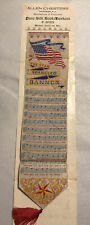 Antique Pure Silk Bookmark Of The Star Spangled Banner By Allen Chesters Rare!