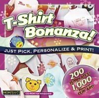 T-SHIRT BONANZA  Design Sensational t-shirts for any event  XP Vista 7 8  NEW