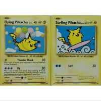 Pokemon 1x Flying Pikachu 110/108 1x Surfing Pikachu 111/108  Englisch NM