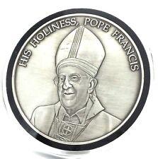 2015 His Holiness Pope Francis I Medallion Philadelphia 5 Oz Silver Round