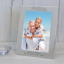 Personalised Wedding Anniversary Silver Plated Photo Frame Anniversary Gift