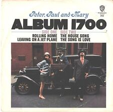 PETER,PAUL & MARY--PAPER-4 SONG-EP-PICTURE SLEEVE + 45---(PS--PIC--SLV
