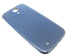 Akkudeckel Deckel Schale Glänzend Blau für Samsung Galaxy S4 i9500 LTE i9505